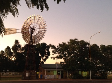 Comet windmill in Barcaldine, Queensland. Photo: Erle Levey, Sunshine Coast Newspapers