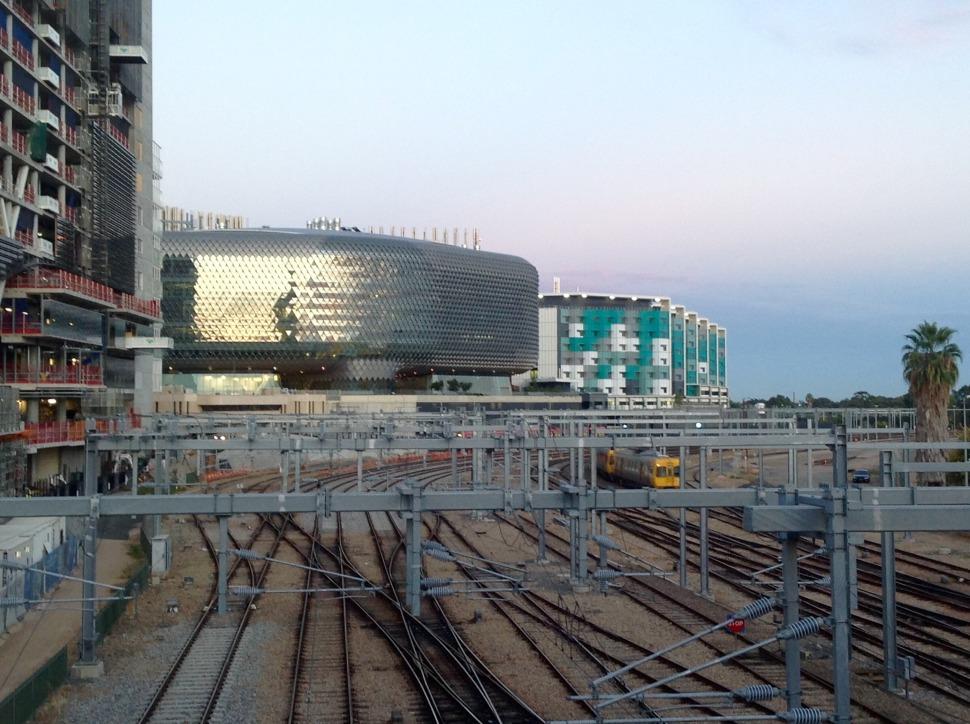 South Australia's new Health and Biomedical Precinct on North Terrace.