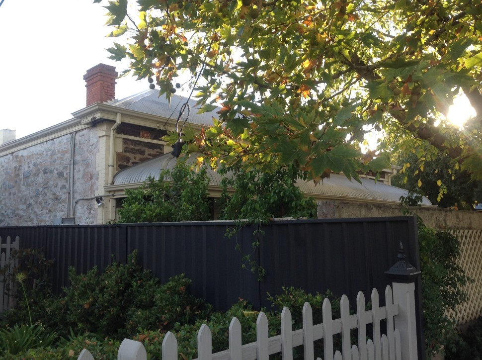 Stone houses in Adelaide streets.