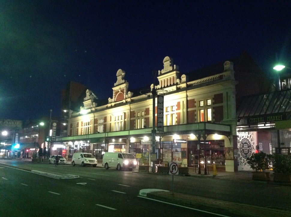 Adelaide's Central Markets just before first light of day.