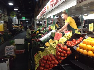 Fruit and veg stall at Adelaide Central Market.