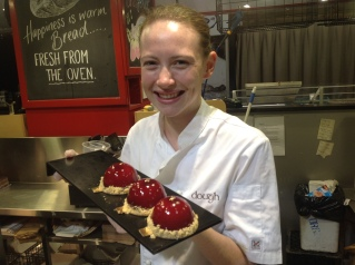 Blackberry and white chocolate dome delight from Dough at Adelaide's Central Markets.