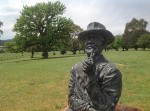 The AB 'Banjo' Paterson memorial at Narrambla, NSW