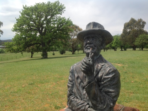 The AB 'Banjo' Paterson memorial at Narrambla, NSW