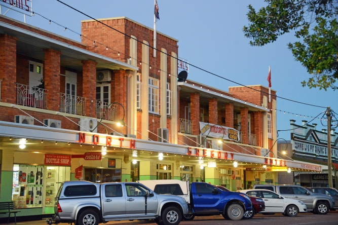 The North Gregory Hotel in Winton is where Waltzing Matilda was performed for the first time in public in 1895. Photo: John Elliott