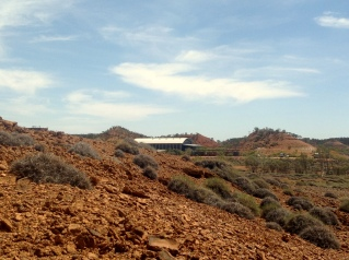 Lark Quarry, site of the dinosaur stampede 95million years ago. Photo: Erle Levey