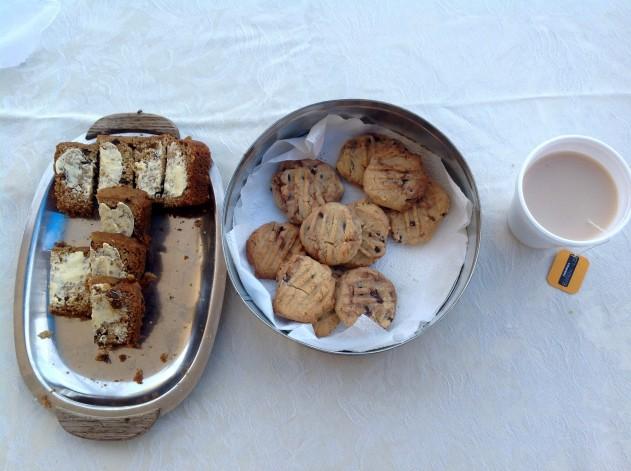 Morning tea at Qantilda Museum, Winton.Photo Erle Levey / Sunshine Coast Daily