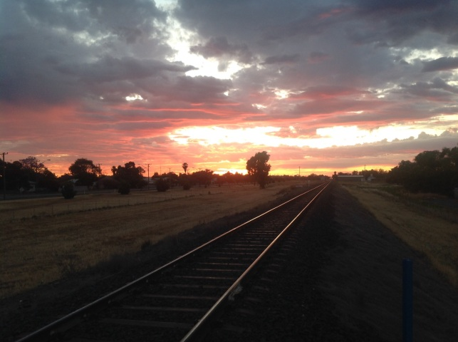 Morning light at Nyngan, NSW. Photo: Erle Levey