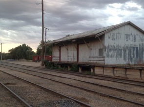 Old railway goods sheds at Ouyen, Victoria. Photo Erle Levey
