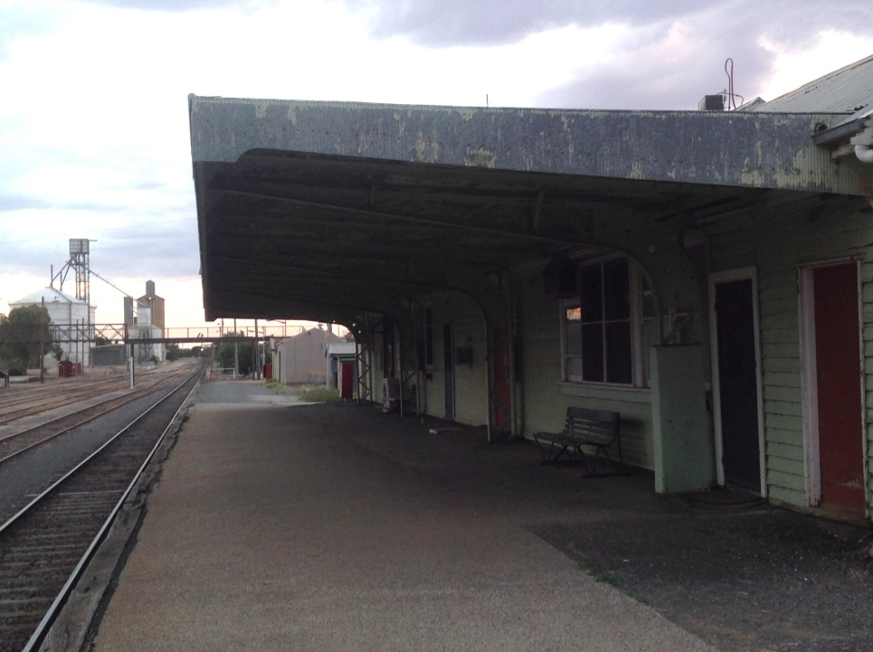 The Ouyen railway station, Victoria. Photo: Erle Levey