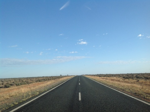The road north to Broken Hill, NSW. Photo: Erle Levey