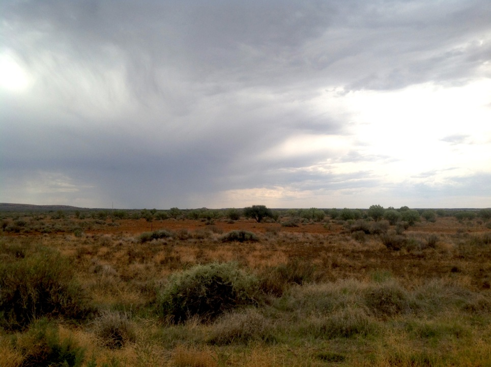 A storm on the plains between Broken Hill and Wilcannia, outback NSW. Photo: Erle Levey
