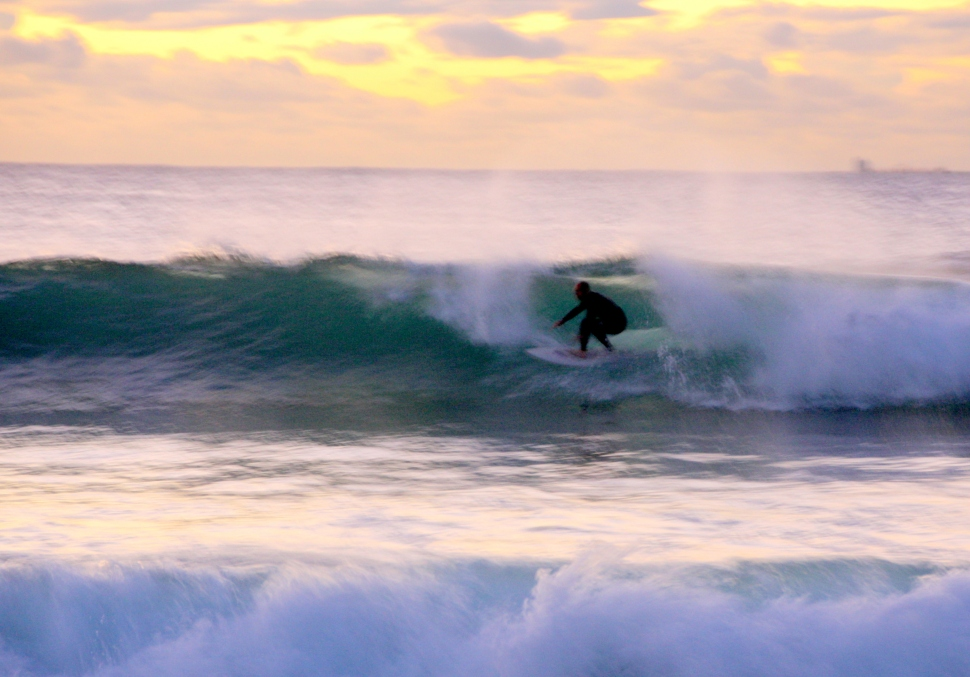Early morning surf at Maroubra.