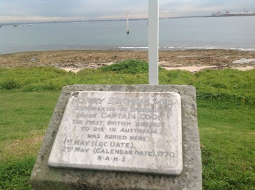 Monument to the memory of seaman Forry Sutherland who died at Botany Bay in 1770.