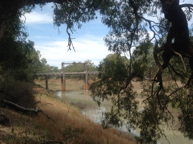 The road bridge over the Darling River, Wilcannia, NSW> Photo: Erle Levey