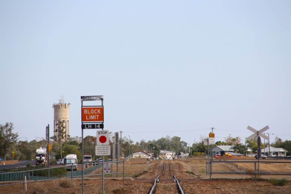 The railway line at Longreach. Photo: Erle Levey, Sunshine Coast Newspapers