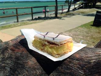 Vanilla slice from Woodys at Golden BeachPhoto Erle Levey / Sunshine Coast Daily