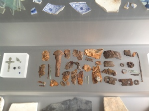 Relics discovered at the Big Dig at the Sydney Harbour YHA in The Rocks. Photo Erle Levey / Sunshine Coast Daily