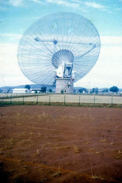 Parkes radio telescope in 1969Photo Erle Levey / Sunshine Coast Daily