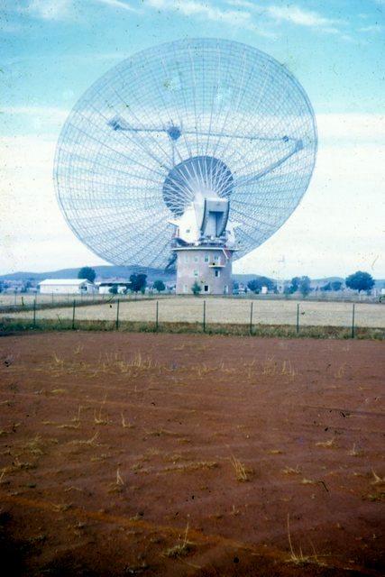 Parkes radio telescope in 1969Photo Erle Levey / Sunshine Coast Daily