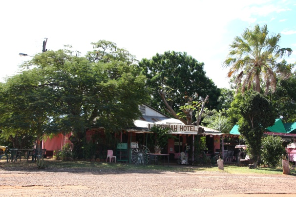 The pub at Larrimah, NT. Photo: Erle Levey, Sunshine Coast Newspapers